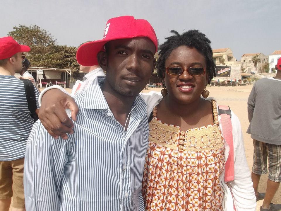 Avec la blogeuse camerounaise Nathalie.