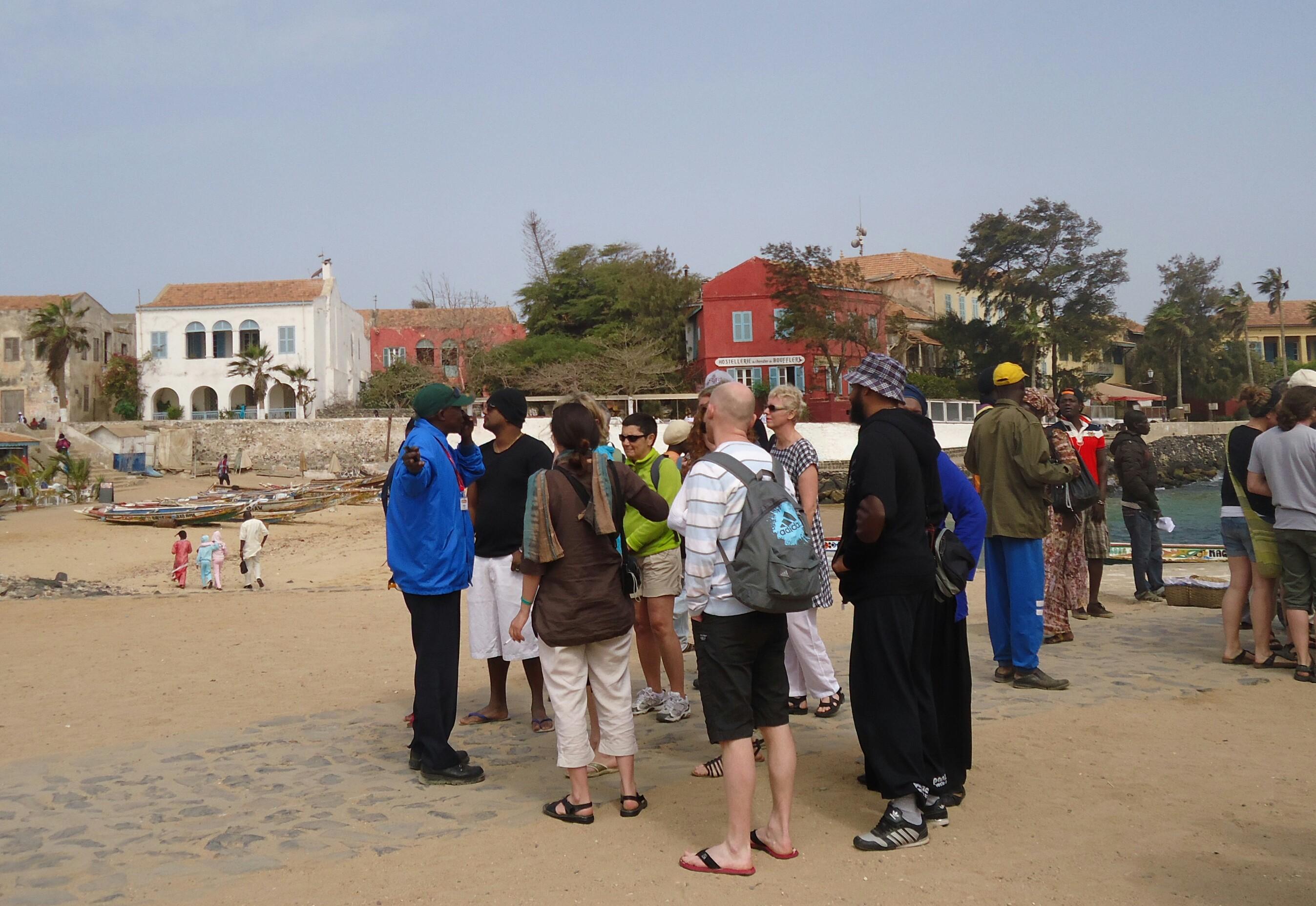 Sur place, déjà des touristes avant notre arrivée